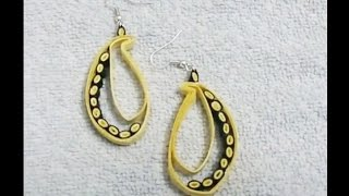 Quilling Paper Earrings - Earrings making with paper - handicrafts Making at home