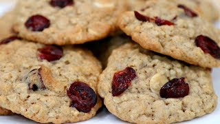 WHITE CHOCOLATE CRANBERRY OATMEAL COOKIES!