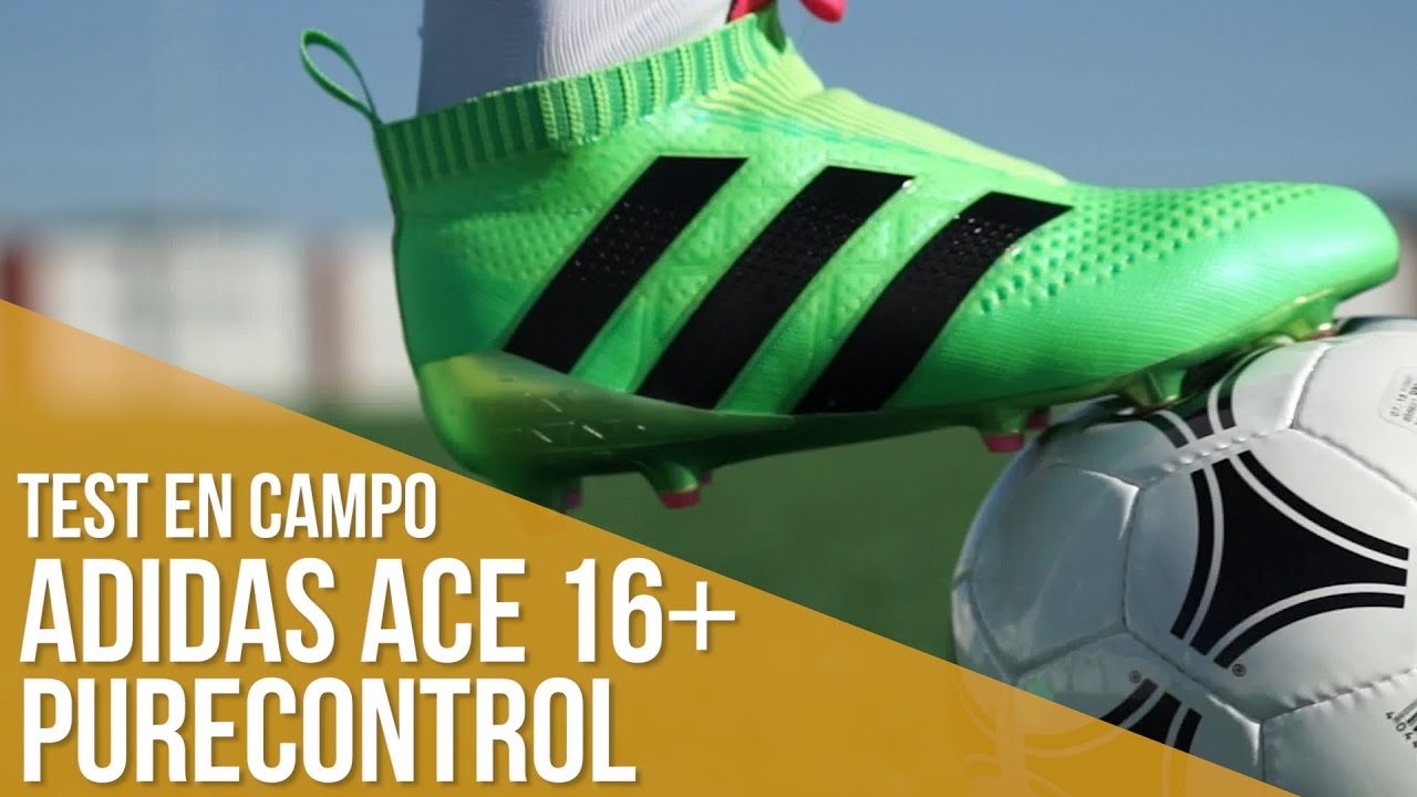 adidas ace 16+ PureControl: Test en campo - YouTube