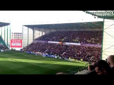 Hearts fans at Easter Road singing 'Since I was young' just after the injury time Ozturk equalizer.