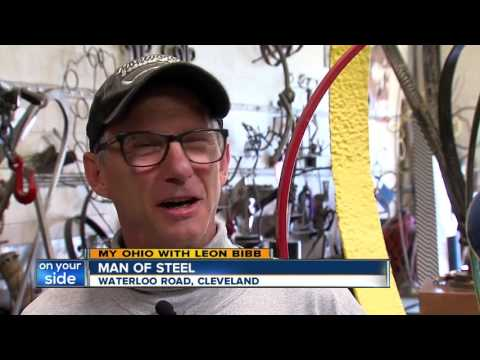 Cleveland man who works in scrap steel makes beautiful art in city's Waterloo Art District