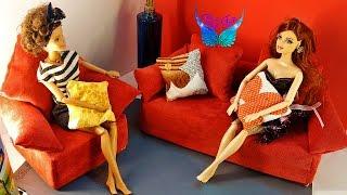 Hướng dẫn làm ghế sofa, gối tựa và gối ôm cho Búp bê Barbie ★ Chị Cánh tiên