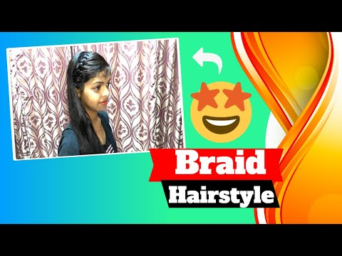 Braid Hairstyle for Girl's. Cute Hairstyles// Easy Hairstyles//Party Hairstyles. thumbnail