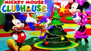 Mickey Mouse CHRISTMAS Puzzle Games Rompecabezas De Play Kids Learning Toys quebra-cabeça