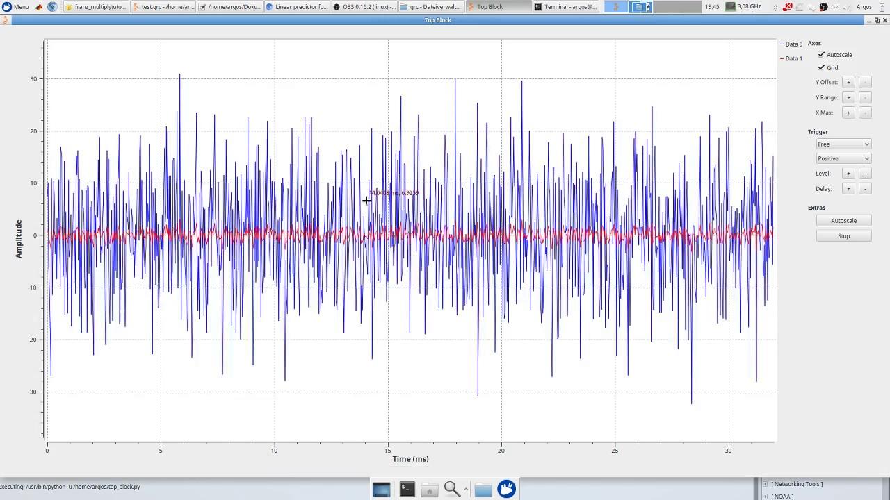 Gnu Radio tutorial signal processing block in python including GRC block