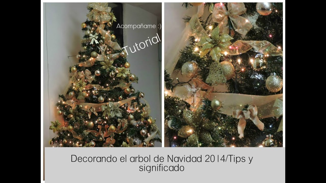 Decorando el rbol de navidad tips y su significado youtube - Arboles de navidad dorados ...