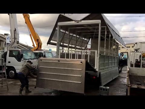 家畜運搬車の製作架装