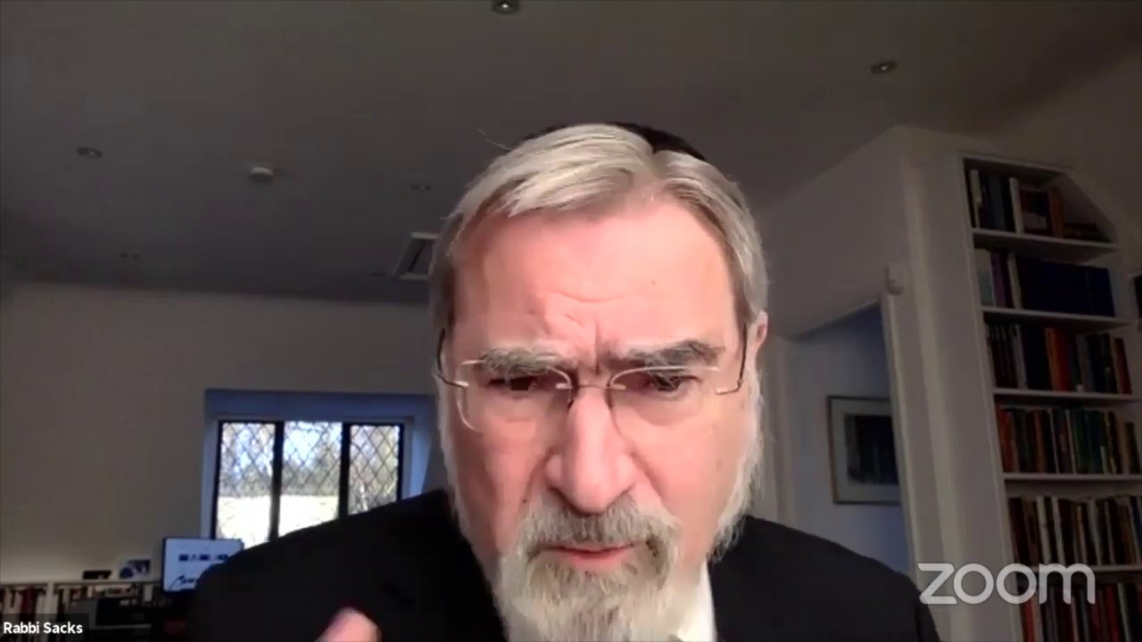 A D'var Torah by Rabbi Sacks on Vayikra and the Coronavirus Pandemic