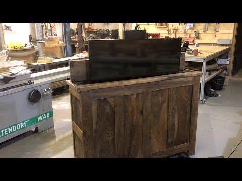 English Walnut  Tv Lift  Domino XL rebuild
