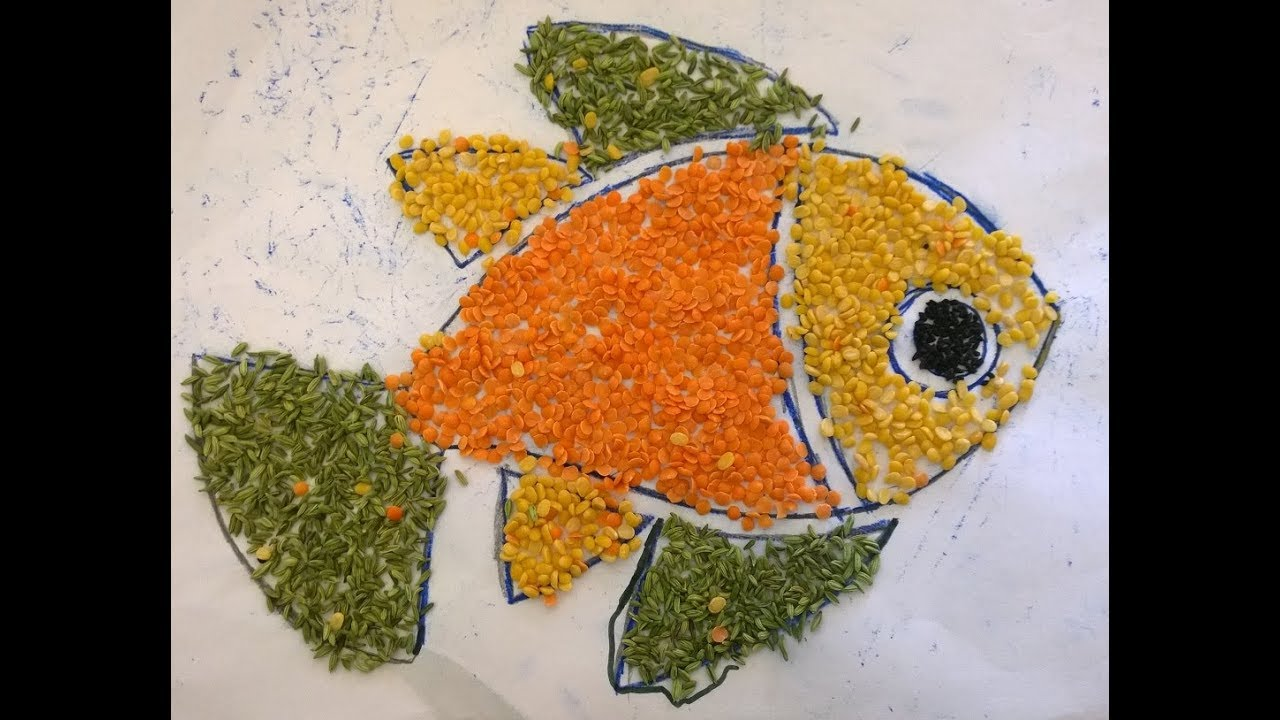 Cereals Art Fish Kids Drawing Idea Must Watch And Make Beautiful