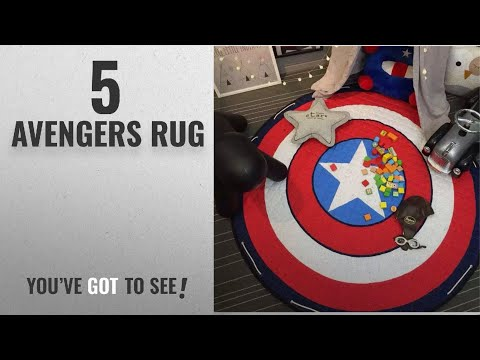 Top 10 Avengers Rug [2018]: INCX Kids Play Mat/Rugs and Toy Organizer Storage Cotton 58x58 Inch
