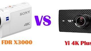 Best Action Cam 2017- Yi 4K+ 60fps (Yi4K+ plus) VS Sony FDR X3000 - 4K (UHD) LOW LIGHT TEST