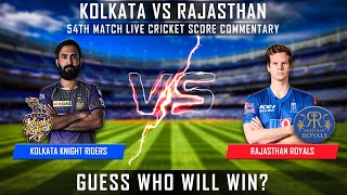 IPL 2020 LIVE KKR VS RR MATCH 54th LIVE SCORES WITH COMMENTARY SUBSCRIBE FOR MORE