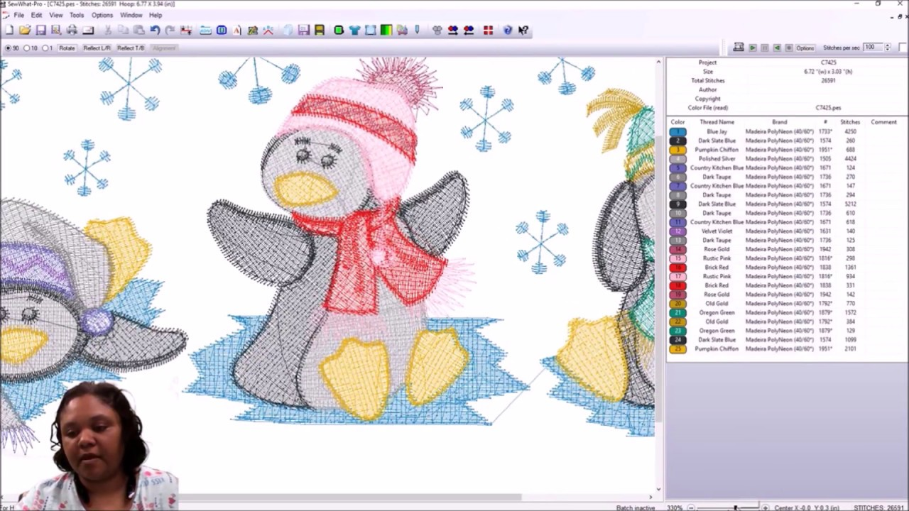 Design Editing & Deleting Stitches with Sew What Pro! A SWP Tutorial