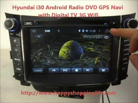 android auto dvd system for hyundai i30 2012 car gps. Black Bedroom Furniture Sets. Home Design Ideas
