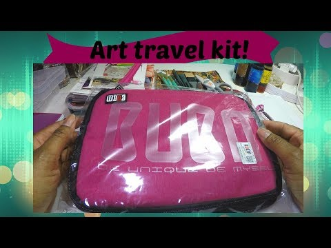 What's in my art travel kit & a mini unboxing!