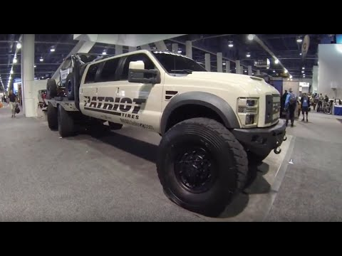 Nothing but Ford trucks at the SEMA show Las Vegas