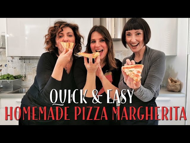 Quick and Easy Homemade Pizza Margherita Recipe - Foodie Sisters in Italy