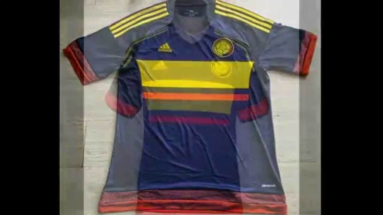 Adidas camisetas Colombia baratas 2015 2016 - YouTube 3f2a6f3a195