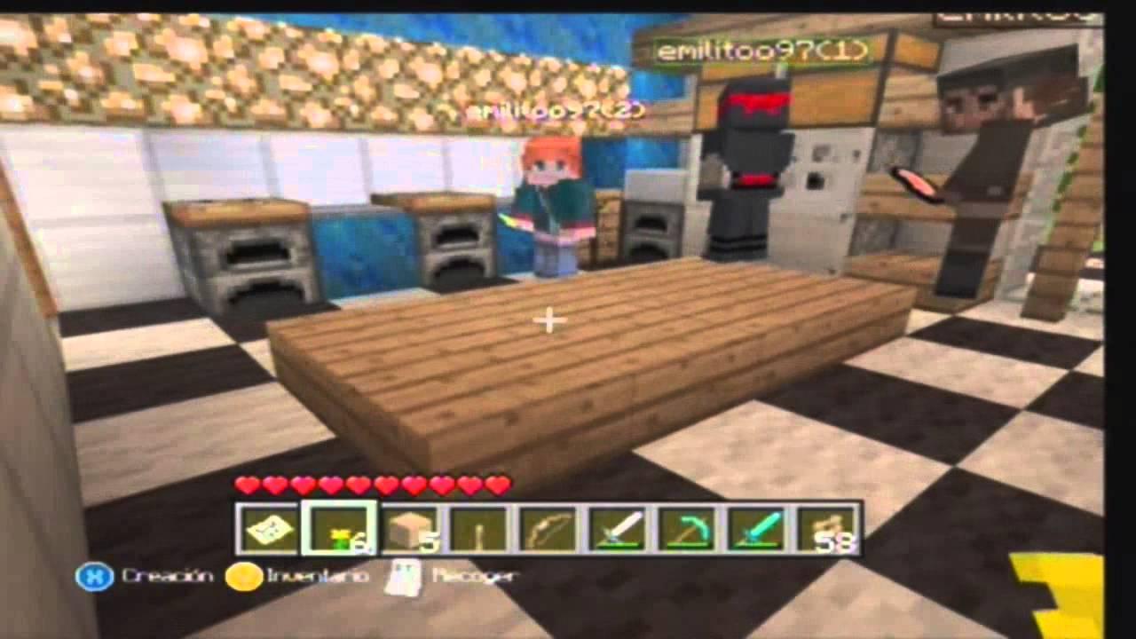 Minecraft xbox 360 visitando tu mundo 2 casa moderna en for Casa moderna minecraft xbox 360