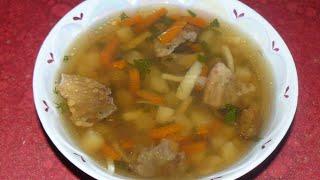 Ароматный суп с сушеными грибами. Вкусный и легкий рецепт без зажарки.