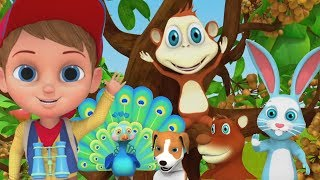 Jungle Song In Hindi | Hindi Poems For Kids | Hindi Baby Songs | LIttle Treehouse India