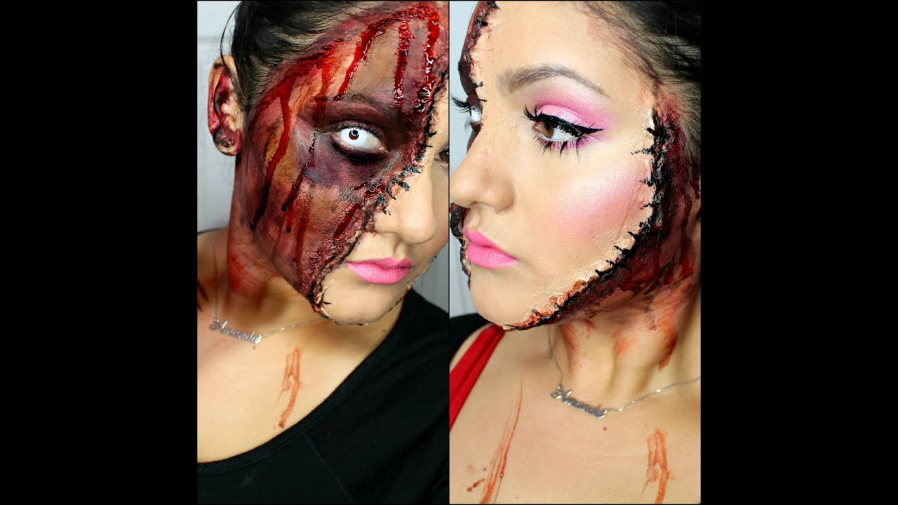 Horror Doll Make Up ( Scary halloween tutorial ) - YouTube