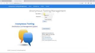 Anonymous Texting Setup