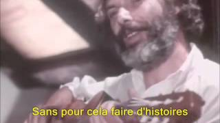 Georges Moustaki - Le Métèque (sous-titres en français)