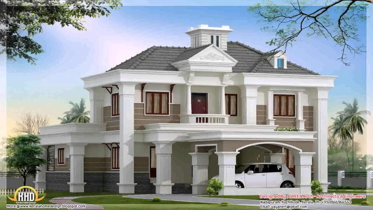 Double Story Building Elevation : Two storey house design with floor plan elevation