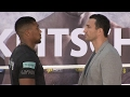 ANTHONY JOSHUA v WLADIMIR KLITSCHKO - HEAD TO HEAD @ COLOGNE (GERMANY) PRESS CONFERENCE