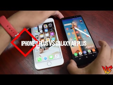 samsung galaxy a8 2018 vs iphone 7 plus speed test youtube. Black Bedroom Furniture Sets. Home Design Ideas
