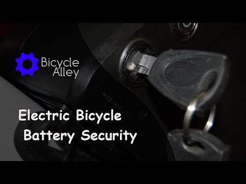 Picking The Lock On A Bafang Lithium-Ion Electric Bicycle Battery Using A Tie Wire