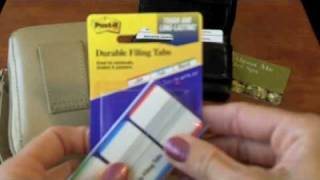 Quick Tip: Organize Your Wallet with Post It Note Durable Filing Tabs