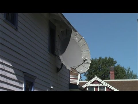 C-Band Satellite TV on a 1 meter dish, with DIMS (did it myself) extension panels