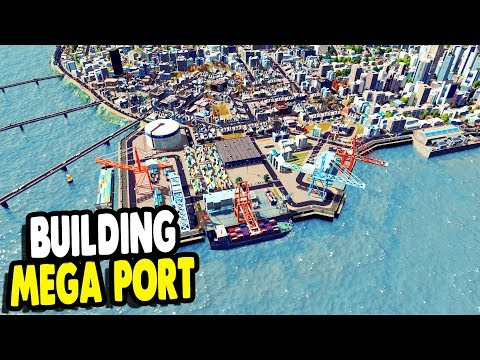UNLOCKED ULTIMATE PORT & Constructing Harbor Area | Cities: Skylines Gameplay