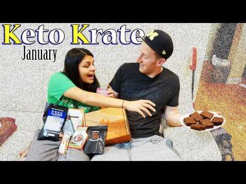 Keto Krate January | We Taste Everything! | Keto Snacks - Keto Brownies - Pork Clouds