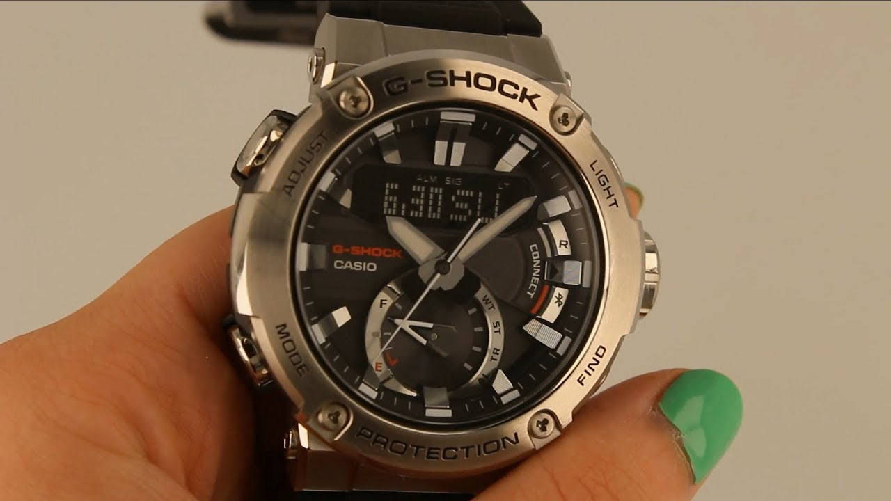New G Shock Steel Bluetooth Tough Solar Watch Gst B200 1aer Close