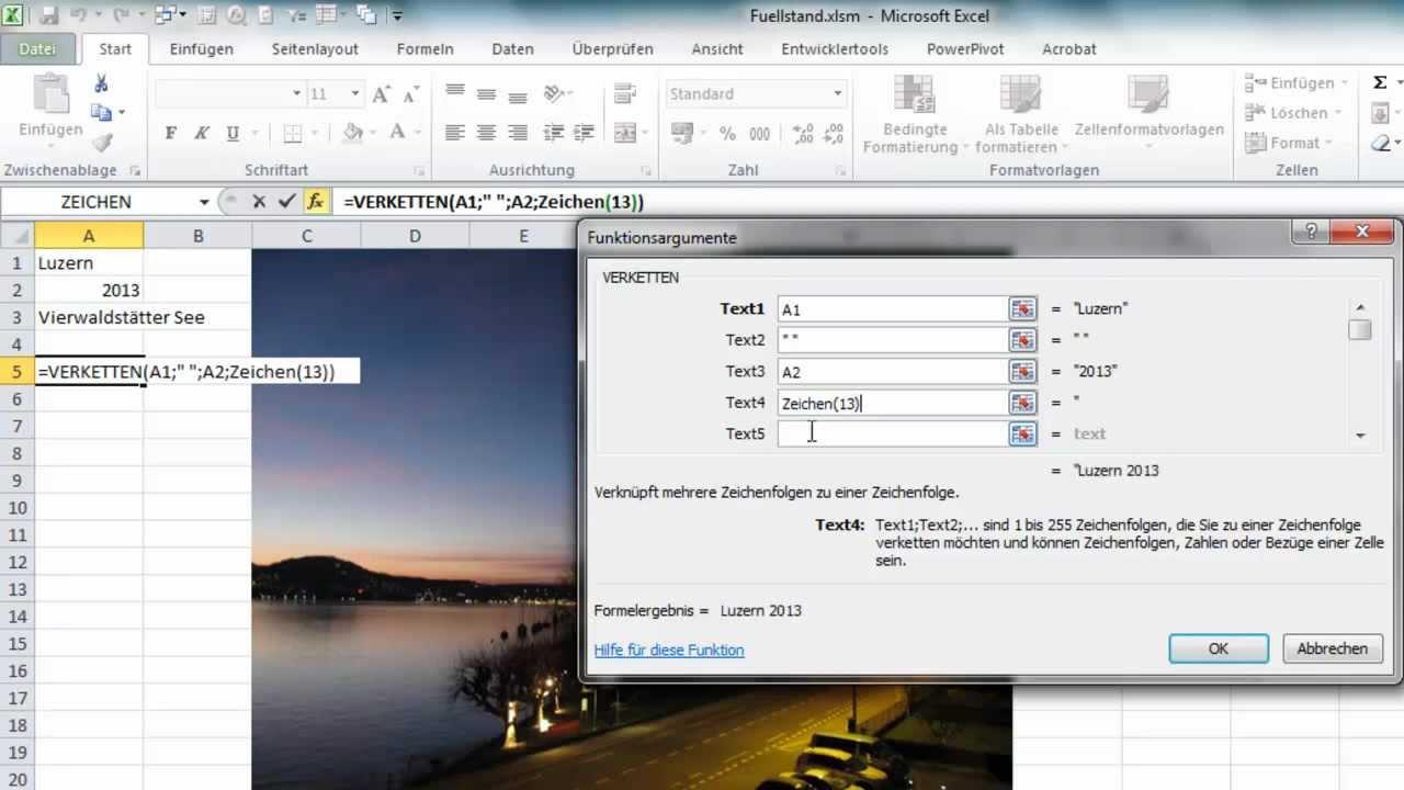 Excel - Textfelder und Bilder mit Zellinhalt beschriften - YouTube