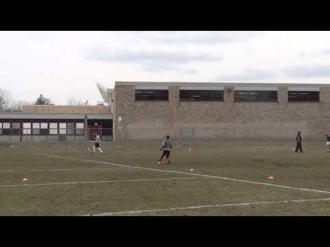 Masaki Aerts   Receiver Drills Spring 2014
