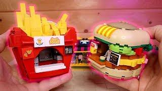 Бургер и Картошка фри из конструктора Лего аналог Sluban или дорогая самоделка