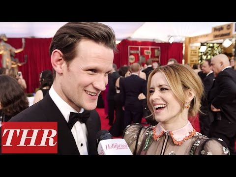 Matt Smith & Claire Foy Play 'First, Best, Last, Worst' on the Sag Awards Red Carpet   THR