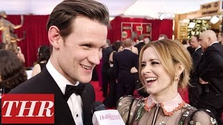 Matt Smith & Claire Foy Play 'First, Best, Last, Worst' on the Sag Awards Red Carpet | THR