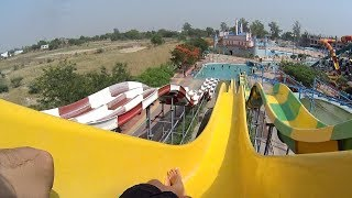 Yellow Body Water Slide at Blue World Theme Park