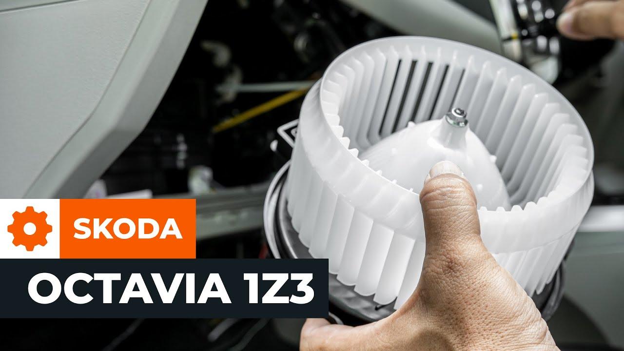 Navod Jak Vymenit Ventilator Topeni Na Skoda Octavia 2 1z3 Youtube