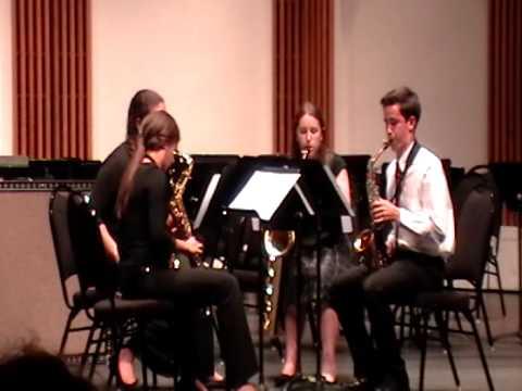 Saxophone Quartet BSU Chamber Music Camp 2014