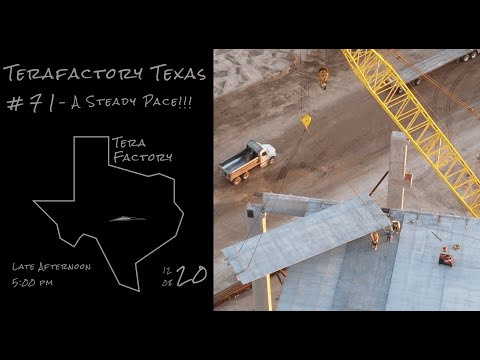 Tesla Terafactory Texas Update #71 in 4K: A Steady Pace - 12/08/20 (5:00pm)
