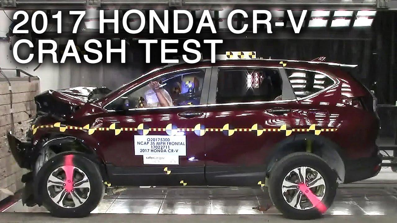 2017 honda cr v frontal crash test youtube for Honda crv crash test