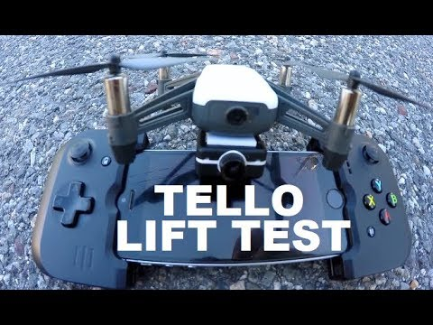 DJI Ryze Tello CAN IT LIFT Mobius Action Camera TEST Review