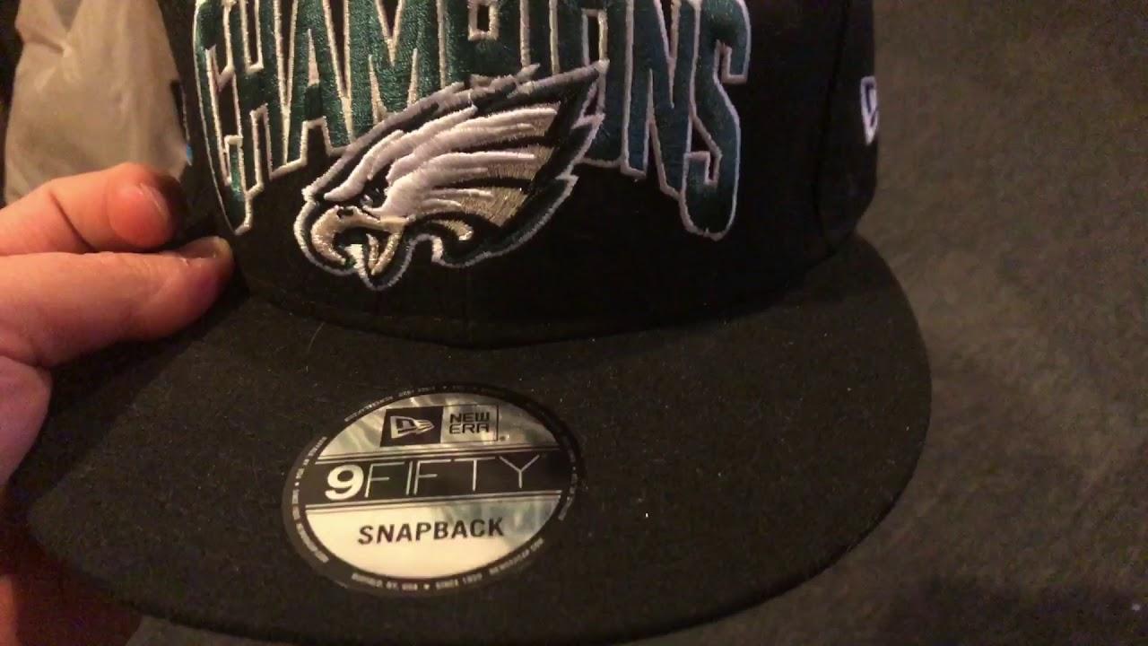 Eagles Super Bowl 52 champions 59 50 new era SnapBack hat review ... 3b98d98c1